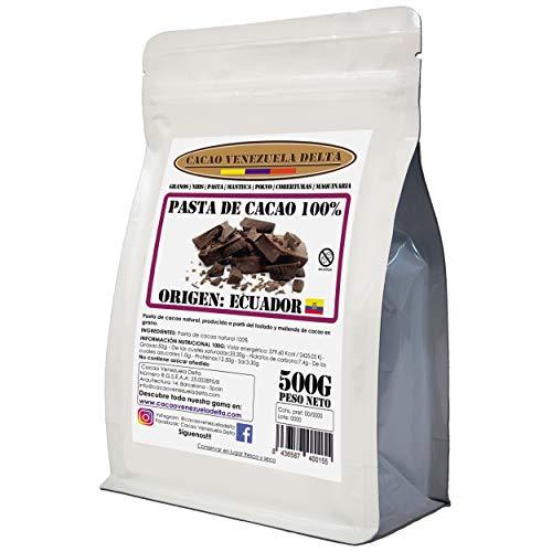 Cacao Venezuela Delta - Cioccolato Fondente Puro al 100% · Origine ECUADOR (Pasta, Massa, Liquore di Cacao al 100%) · 500g