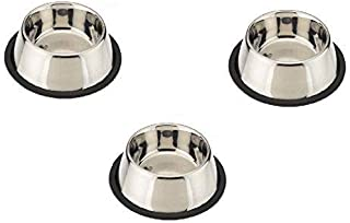 Pets Empire Small Dog and Cat Feeding Bowl Steel 200 ml Set of 3