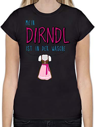 Oktoberfest Damen - Mein Dirndl ist in der Wäsche - XL - Schwarz - L191 - Tailliertes Tshirt für Damen und Frauen T-Shirt