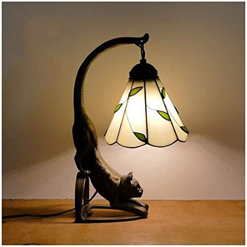 Lámpara de mesa de estilo tiffany, lámpara de cristal barrocas de 6 pulgadas, luz de noche de protección ocular, lámpara de noche, lámpara de lectura de escritorio, utilizado en sala de estar, dormito