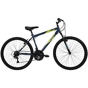 Huffy Hardtail Mountain Bike, Stone Mountain 24-26 inch 21-Speed, Lightweight (Summit Ridge)