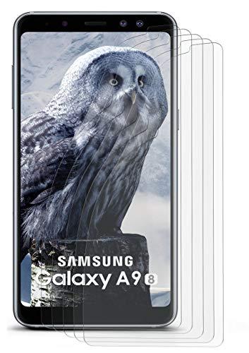 moex Anti Reflex Bildschirmschutzfolie kompatibel mit Samsung Galaxy A9 (2018)   Schutzfolie Matt Bildschirm Folie gegen Reflexionen, flexibel, 5X Stück