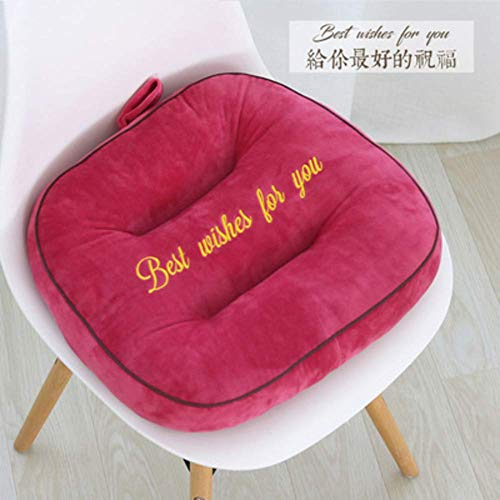 Chair Cushion Wicker, Square Thicken Heighten Cotton Chair Pads with Hand Strap for Home, Outdoor