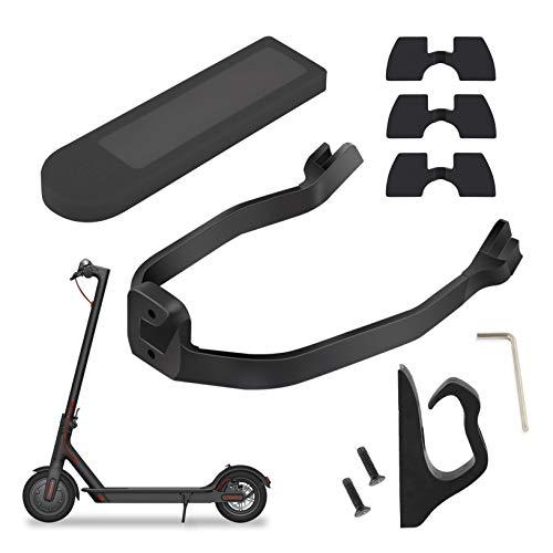 Tinke Yungeln 4er Set Scooter Zubehör Gummi Vibrationsdämpfer,Fronthaken Multifunktionshaken,Schutzblechhalterung,Silikonhülle kompatibel für Xiaomi 1S/M365/Pro Scooter