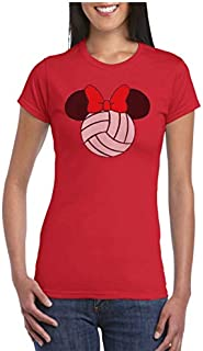 Minnie Mouse Volleyball Graphic T-shirt (Ladies Cut)
