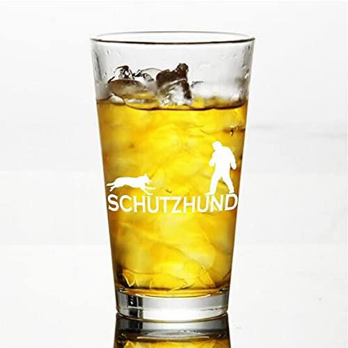 Schutzhund Decoy - Vaso de vino sin tallo, cristal de whisky grabado, perfecto para padre, mamá, niño o amiga