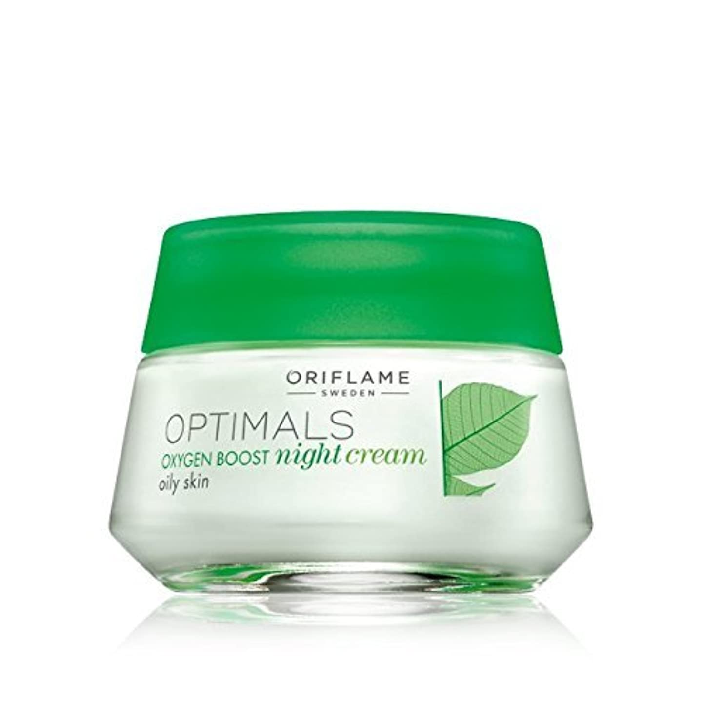 領収書オン浸透するOptimals Oxygen Boost Night Cream Oily Skin by Oriflame