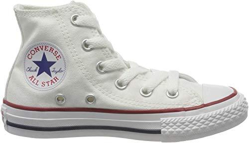 Converse Unisex-Kinder Chuck Taylor All Star 3J253C Hohe Sneaker, Weiß, 30 EU