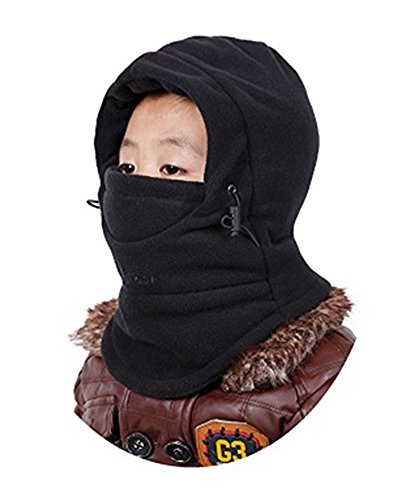 ZZLAY Enfants Cagoule Chapeau Épais Thermique Coupe-Vent Ski Cyclisme Visage Masque Caps Capot Couvercle Capuchon Réglable