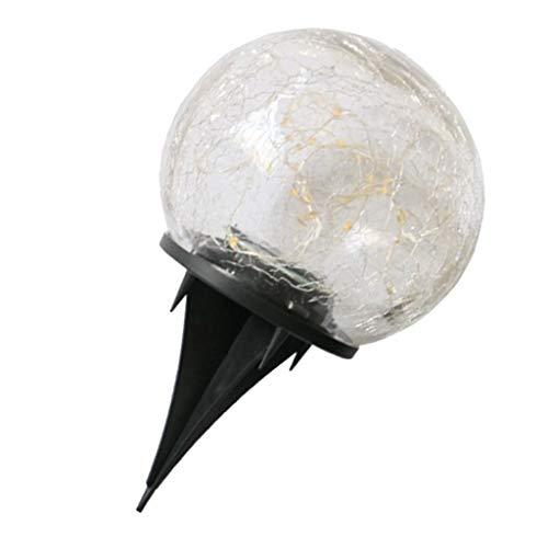 FLAMEER Kugelleuchte Kugellampe Aussen Garten Leuchtkugel Gartenlampe Lichtkugel - 10cm