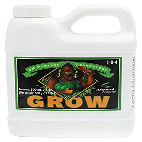 Advanced Nutrients 1301-13 Grow pH Perfect Fertilizer, 500 mL, 0.5 Liter
