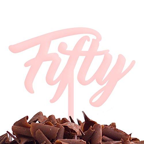 Directly Personalised Gâteau Fifty 50 Fête d'anniversaire .b. Rapide et Gratuit Royaume-Uni Livraison