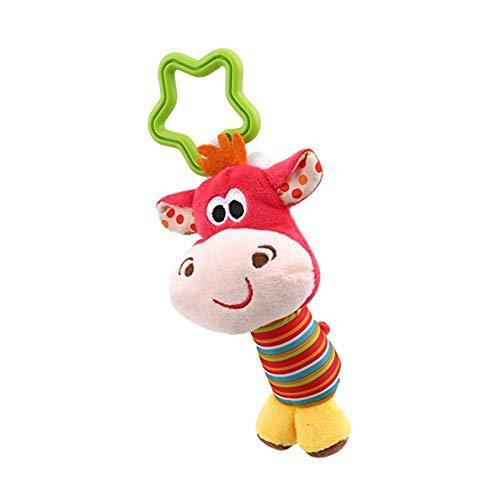 Naughty baby 1 Pcs New Classic Toys Bébé Enfant Hochet Anneaux Mobiles Vent Animaux Nouveau-Né Bébé Poussette Double Pendaison Des Jouets En Peluche,D