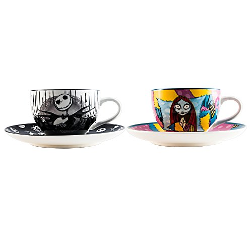 Nightmare Before Christmas Jack and Sally Tea Cup and Saucer Set