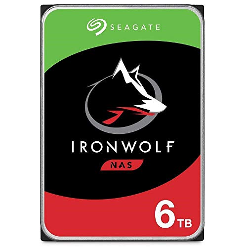 "Seagate Technology - Disco rigido IronWolf NAS da 3,5"" ST6000VN001 da 6 TB (SATA 6 Gb/s/256 MB/5400 giri/min)"