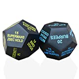 GeboCo 12 Sided Exercise Dice - Pack of 2 Activity Cubes with 24 Games...