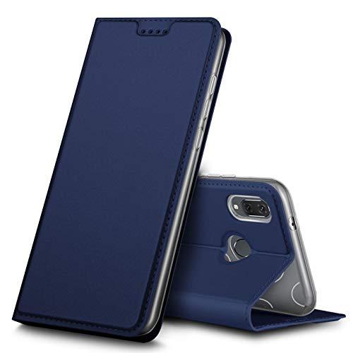 Verco Funda para Huawei P Smart 2019 PU Cuero Flip Folio Carcasa Soporte Plegable Ranuras para Tarjetas para teléfono móvil Huawei P Smart 2019 Cubierta, Azul Marino