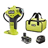Ryobi P737D 18-Volt ONE+ Cordless High Pressure Inflator with Digital Gauge, 3.0 Ah LITHIUM+ HP High Capacity Battery, 18-Volt Charger, and Bag