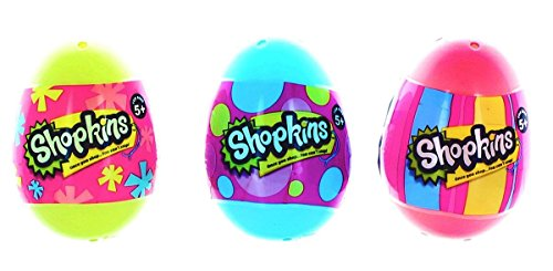Shopkins Surprise Pastel Eggs, Season 4: Pink, Blue, and Yellow: Pack of 3