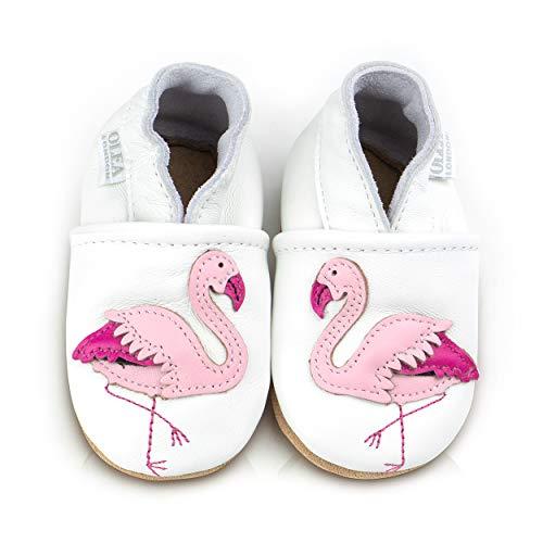Suaves Zapatos De Cuero Del Bebé Flamenco 5-6 Años