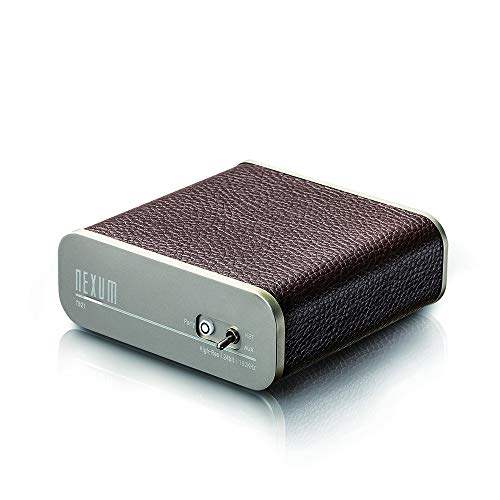 NEXUM Tunebox2 TB21 WiFi Hi-Fi Music Receiver with Analogue Input (ADC), 24Bit/192KHz Streaming Music with Hi-Fi Quality, AirPlay/DLNA/Spotify Connect/Multi-Room Sync Play (TB21-Brown)