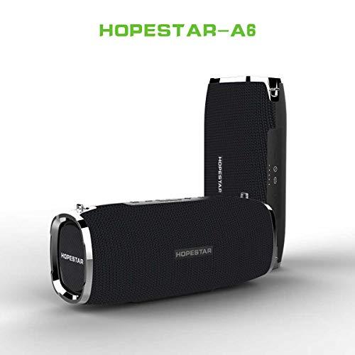 sanjinshangmao HOPESTAR-A6 Tarjeta de Altavoz Bluetooth inalámbrico de Batalla Tambor al Aire Libre Correa Impermeable portátil bajo de Alta Potencia Negro