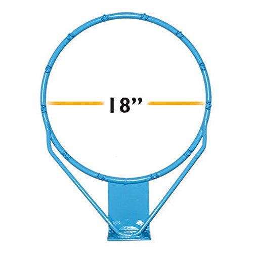 Dunnrite Regulation Clear Hoop Stainless Steel Pool Basketball Rim - 18in