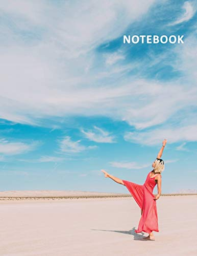 College Ruled Notebook: Dancing on the beach Practical Student Composition Book Daily Journal Diary Notepad for researching contemporary dance classes for beginners