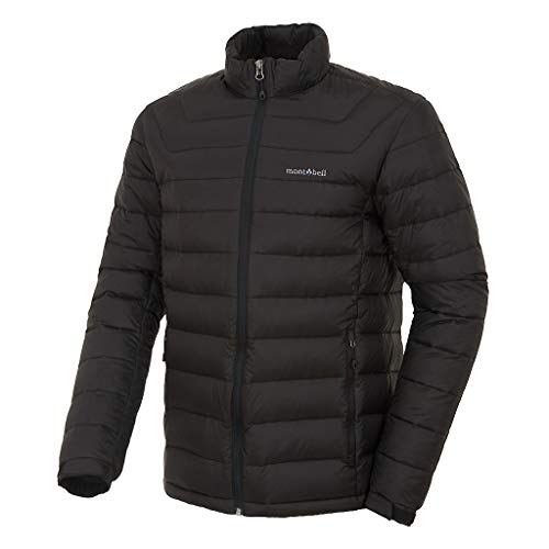 [モンベル] MONT-BELL メンズ冬軽量ダウンジャンパージェイド(JADE) Men's Winter Lightweight Down Jacket ML3C WMDL301/302 (BLACK, M) [並行輸入品]