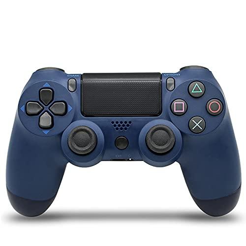 Manette PS4 Manette de Jeu Bluetooth sans Fil pour Playstation 4 avec câble USB Compatible avec Windows PC-Bleu nuit