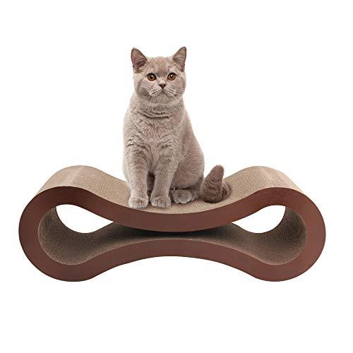 Pet Prime Jumbo Katzenkratzmöbel Katzenkratzkarton Lounge Qualitätskarton mit Katzenminze Kratzbaum 82 x 26,5 x 26,5 cm