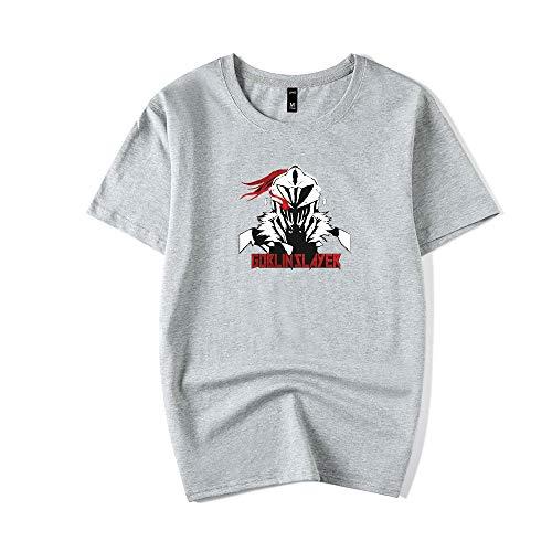 Goblin Slayer Camiseta Buena relación Calidad-Precio Hombres guapos Deportes Camiseta de Manga Corta Top Tees Entrenamiento físico Ropa Deportiva Gimnasio Unisex (Color : Grey02, Size : XXL)
