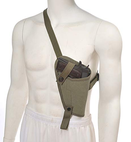 World War Supply US M3 OD Canvas 1911 .45 Tanker Shoulder Holster Marked JT&L for Colt 1911 and Similar Sized Semi Autos