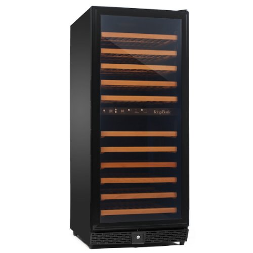 Hot Sale KingsBottle Dual Zone Wine Cooler, Glass Door