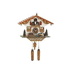 Musical Black Forest Quartz Chalet Cuckoo Clock with Beer Drinker by Trenkle Uhren