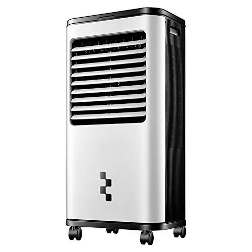 FUFU Climatizadores evaporativos Ventilador de aire acondicionado portátil, enfriador de aire por evaporación con control remoto 3 velocidades, 8H de tiempo, oscilación de 120 ° para la oficin