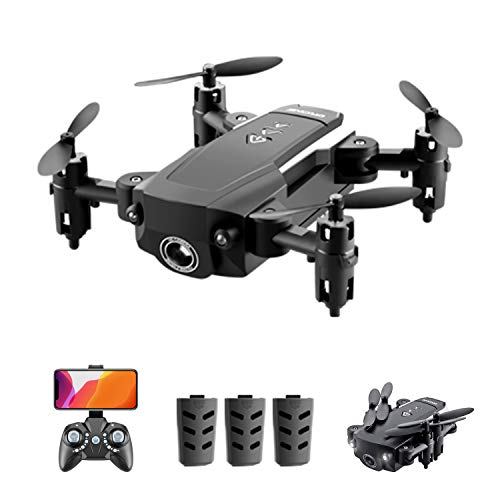 GoolRC Mini Drones for Kids or Adults, KK8 RC Drone, Foldable RC Quadcopter with 3D Flips, Headless Mode, One Key Return, Altitude Hold and 3 Batteries