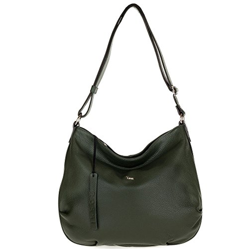 """Height 13"""" (33cm), Height across center with top folded over 11"""" (28cm), Width 14.75"""" (37.5cm), Depth 3"""" (7.6cm) Adjustable Handle drop 13-23"""" (33-58.5cm). Large interior zip pocket and small slip pocket Full zipper closure. Silver-tone hardware. Cot..."""