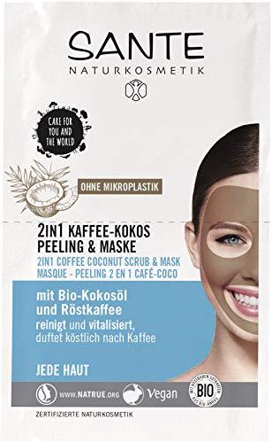 Sante: 2in1 Kaffee-Kokos Peeling & Maske (2x4 ml) (8 ml)
