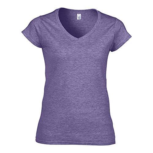 Gildan - Camiseta de algodón pesado (150g) con cuello en V para...