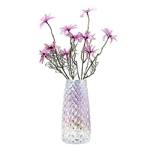 FUBAO Jarrón de cristal transparente pesado – 22 cm, florero de cristal...
