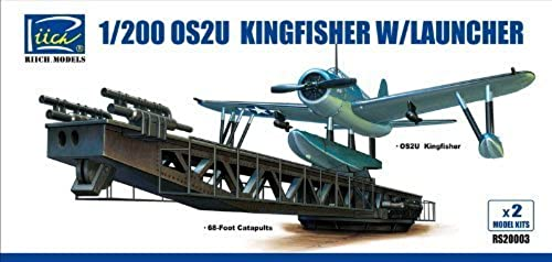 Riich Models OS2U Kingfisher with Launcher 1 200 Scale Military Model Kit by Riich