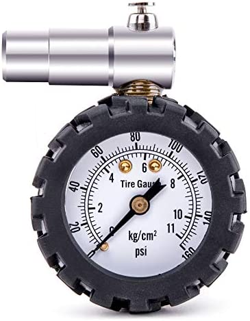 Hi Spec 160 PSI Tire Pressure Dial Gauge for Presta French Valves on Road Racing Bikes High product image