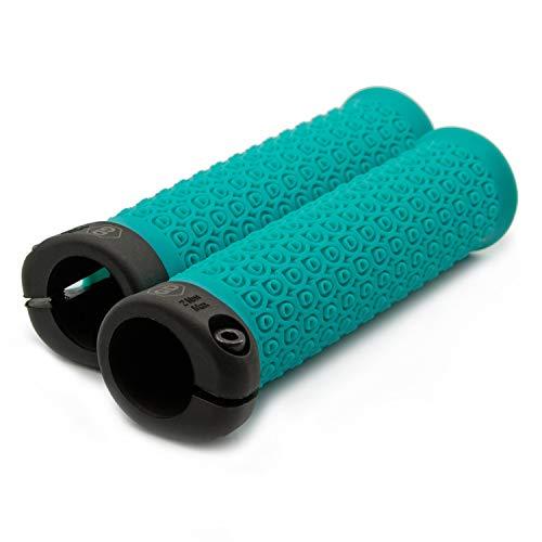 GD Grip Division /® Poign/ées de v/élo ergonomiques Confortables en Gel Caoutchouc Kraton Souple Noir