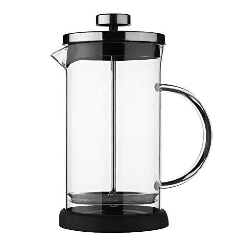POHOVE Cafetera de prensa francesa de 350 ml/600 ml de vidrio y acero inoxidable portátil para hacer té, espuma de leche y jugo