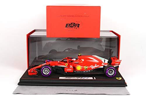 """BBR Models BBR181807CANSR - Ferrari SF71-H Kimi Raikkonen Versión Inizio Gara """"gomme Viola"""" GP Canada 2018 con Vitrina incluida - Escala 1/18 - vehículo en Miniatura - diecast"""
