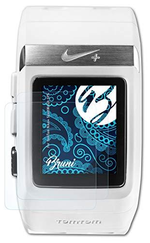 Bruni Película Protectora Compatible con Tomtom Nike+ SportWatch GPS Protector Película, Claro Lámina Protectora (2X)
