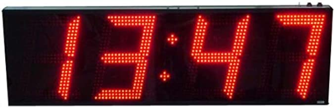 AE124/CC Stand-Alone, 4-Digit, Multi-Function Clock/Timer with 12-inch High Digits