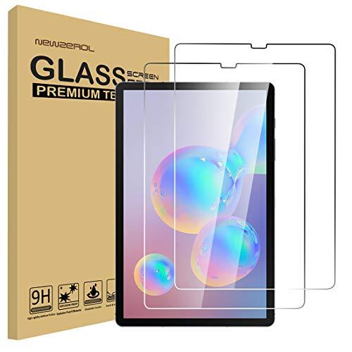 NEWZEROL 2 Packs Kompatibel für Samsung Galaxy Tab S6 / S5E 10,5 Zoll Bildschirmschutzfolie Hartglas-Schutzfolie High-Definition-Schutzfolie für Galaxy Tab S6 10,5-Transparent