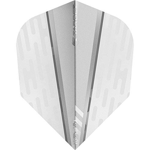 Target Vision Ultra Dart Flights–mit Chevron Grip–Weiß Flügel weiß–5sets (15)–mit Darts Ecke gebogen Kugelschreiber